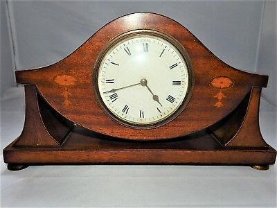 Duverdrey & Bloquel 8 Day Inlaid Mantel Clock