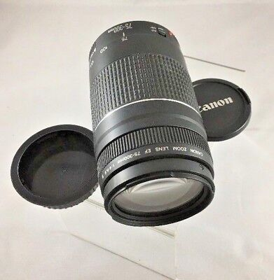 Canon Zoom Lens EF 75-300mm 1:4-5.6 III For All Canon DSLR  FX or DX    *E35*