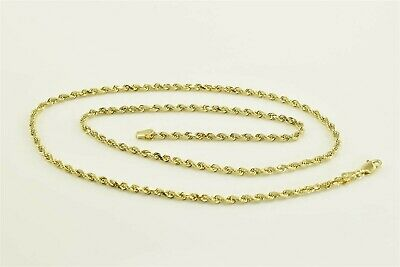 6438fe52f9e06 14K YELLOW GOLD Solid Rope Chain Necklace 18