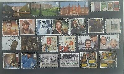 120 Unfranked Different 1St/2Nd Class Stamps (Comms) Off Paper No Gum F/v £81.48