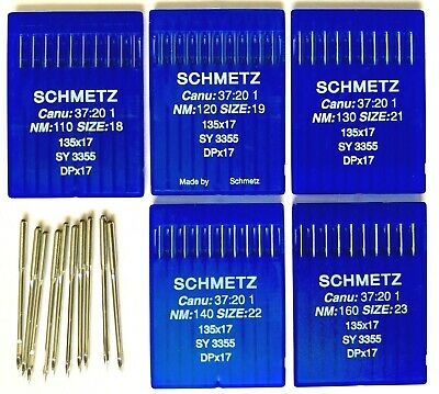 Schmetz Industrial Walking Foot Sewing Machine Needles DPx17 135X17 SY3355 UK