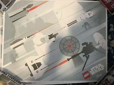 LEGO Disney Star Wars Assault on Hoth May Fourth 2016 VIP Poster Limited Edition