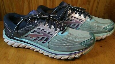 5b906c9df62a9 Brooks Glycerin 14 Womens Size 10.5 Running Shoes TrainingTeal Gray Silver
