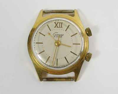 USSR Russian mechanical watch 1MChZ POLJOT ALARM SIGNAL Gold Plated AU-20