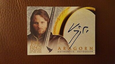 Lord of the Rings The Return of the king Viggo Mortensen as Aragorn Auto Card