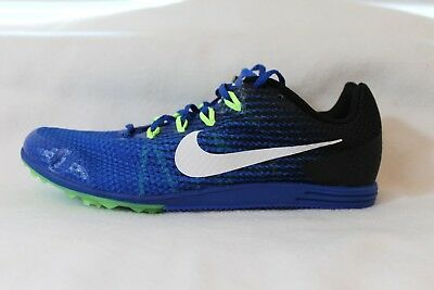 new style 8951b 3396f Nike Zoom Rival D 9 Distance Track À piques Homme Flywire Bleu PDSF NEUF