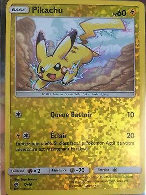 Carte Pikachu REVERSE Macdo 17/40 Mac Donald's PROMO 2018 neuve Pokemon FRENCH