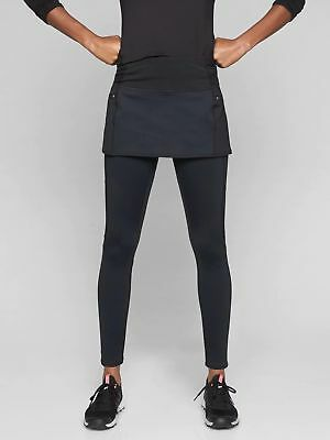 8b0e51d40d541f NEW ATHLETA High Traverse 2 in 1 Tight Leggings L LARGE Black Warm! Winter  Pant