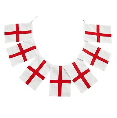 """33FT England English St George""""s Day Flags Bunting"""