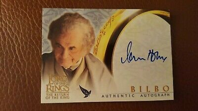 TOPPS AUTO card Lord of the Rings The Return of the King Ian Holm as Bilbo