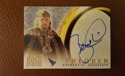 TOPPS AUTO card Lord of the Rings The Return of the King Bernard Hill as Theoden