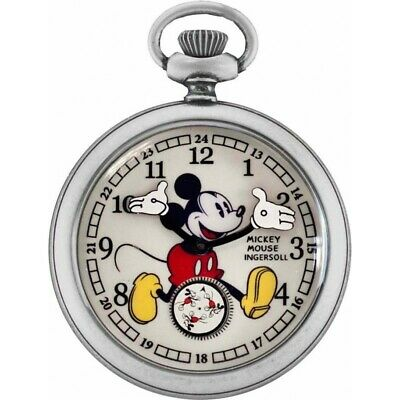 Disney by Ingersoll 25834 30s Collection Mickey Mouse Pocket Watch