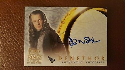 TOPPS AUTO card Lord of the Rings The Return of the King John Noble as Denethor