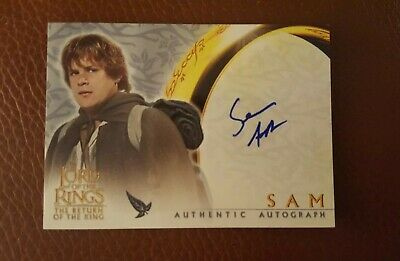 TOPPS AUTO card Lord of the Rings The Return of the King Sean Astin as Sam