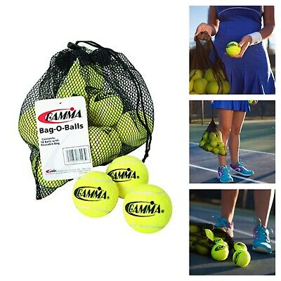 Mesh Bag with Drawstring and 18-Pack of Pressureless Tennis Balls