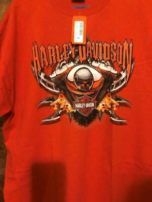 Harley Davidson Mens Shirt XL Classic Orange NWT Brand New with Tags X Large