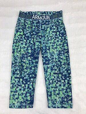 Under Armour Girls Leggings Size YXL Fitted Youth XL Crop Athletic Running