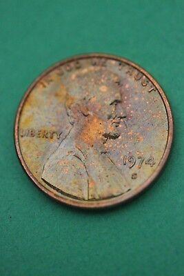 Florida Toned 1974 S Lincoln Memorial Cent Flat Rate Shipping TOM32