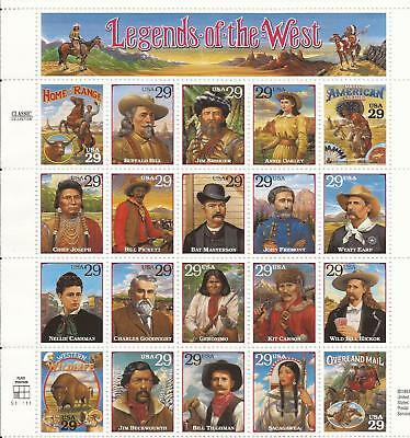 SCOTT 2869 Classic Collection Legends of the West  SHEET OF20 MNH