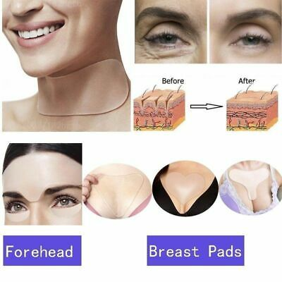 1XAnti Wrinkle Reusable Silicone Neck Chest Face Forehead Eye Pads Anti Aging