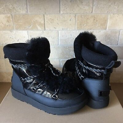 f0078541e8e UGG HIGHLAND BLACK Patent Leather Water-Proof Winter Boots, Us 8 ...