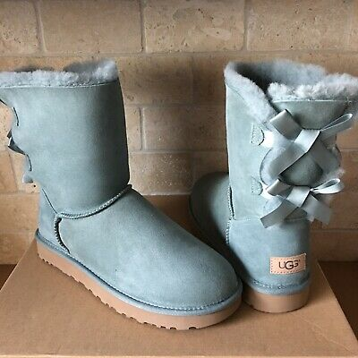 05430af6e45 UGG SHORT BAILEY Bow Ii Sea Green Suede Sheepskin Boots Size Us 10 ...