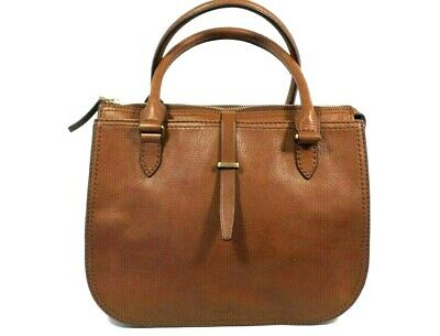 Leather Fossil Purse Satchel Zb741255 Ryder Handbag Brown 00 gY67yvIbf