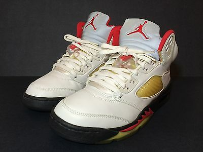 5e50657994ed72 1999 Nike Air Jordan 5 V Fire Red Mens Size 7.5 Womens 8.5 9 Og Wolf