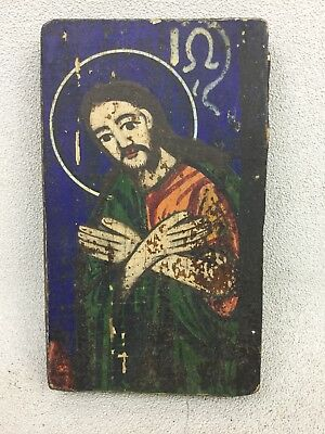Antique Ancient Byzantine Painting Of Christ Dated 1227 Church Alter Panel