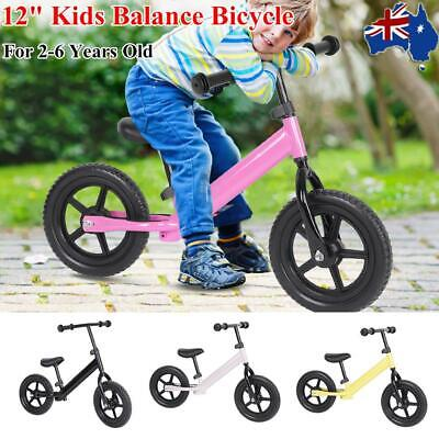 """12"""" Kids Children Balance Bike No Pedal Scooter Training Child Bicycle 4 Colors"""