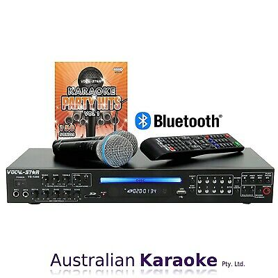 NEW Vocal Star VS-1200, Bluetooth CDG DVD HD Karaoke Machine With 2 Microphones