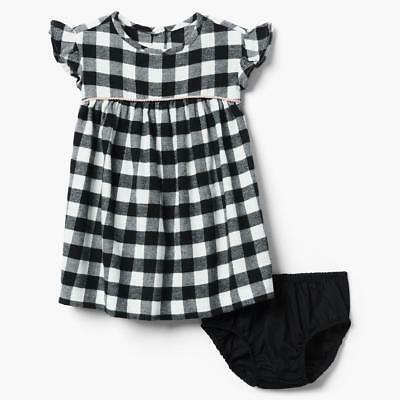 NWT Gymboree Girl 18 24 5T Spring Purple Plaid Dress with Matching Headband Set