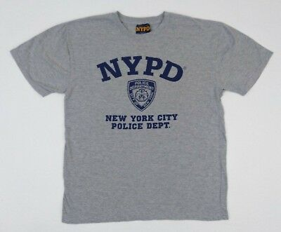 d14a4a6f2 NYPD Men's Gray Short Sleeve NYPD T-Shirt Large New York Police Department