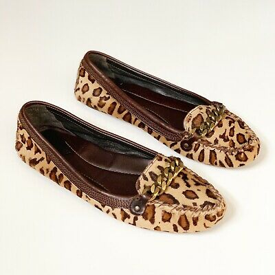 0b1397e9eb2 J. Crew Collection Leopard Calf Hair Loafers 7 Animal Print Leather Lined  Work