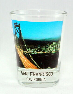 San Francisco California Golden Gate Bridge Color Photo Shot Glass Shotglass