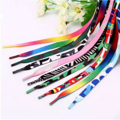Colorful Coloured Shoelaces Flat Round Bootlace Sneaker Shoe Laces 5Pairs