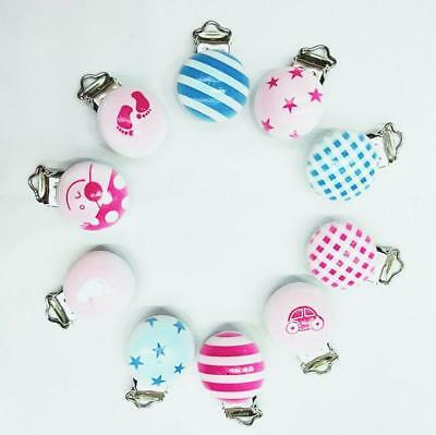 5X unicorn/Flamingo Baby Pacifier Clip Soother Clasps Holders Teether Accessorie