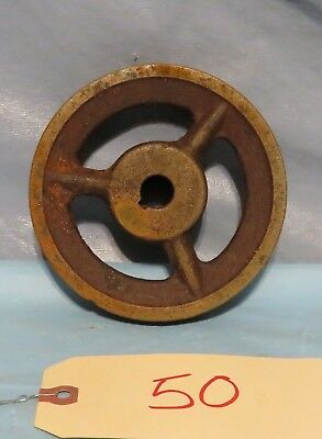 Vintage Industrial Machine Age Steel/Cast Iron V Pulley Steampunk Altered Art