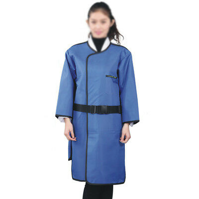 X-Ray Lead Free Radiation Protection Apron 0.35mmPb Collar Long Sleeve Size M