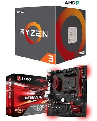 AMD RYZEN 3 2200G Quad-Core 3.5 GHz APU + MSI B350M-Gaming Pro MOBO Combo