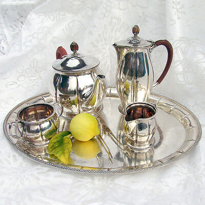 Important Liberty and Company 6 Piece Tea Set Sterling Silver