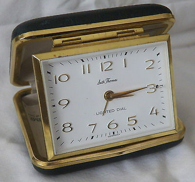 Vintage Seth Thomas Lighted Dial Alarm Travel Clock, Made In Germany