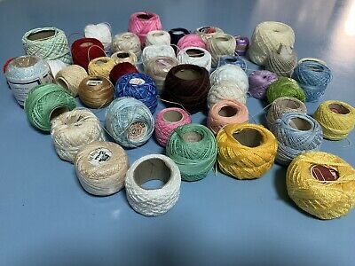 Assorted Crochet Cottons/Thread - Assorted Colours and Sizes