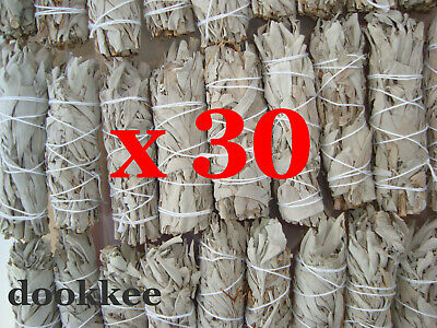 Smudge Stick California White Sage - Mini (9 - 10cm) - BULK Pack of 35 Sticks