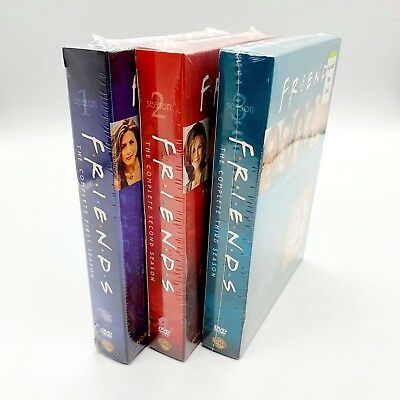 Friends Complete First Second and Third Seasons Box Sets New Sealed Season 1 2 3