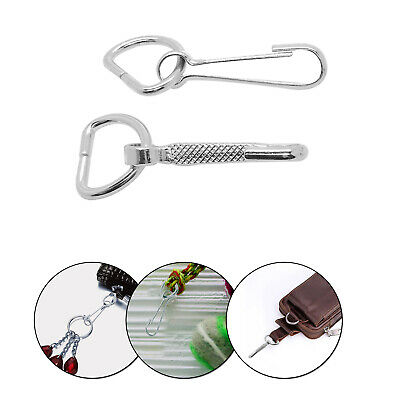 15mm Metal Silver D-Ring Clip withTrigger Hook Keyring Keychain Clasp Outdoor