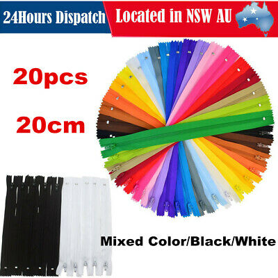 20pcs 20cm Colorful Nylon Coil Zippers Tailor for Trousers Clothing Sewing