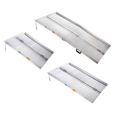 0.9/1.2/1.8M Wheelchair Ramp Portable Mobility Folding Loading Access Aluminium