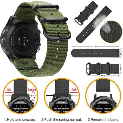 Nylon Watch Band For Garmin Fenix 3/3HR/5X/5X Plus Replacement Strap 26mm