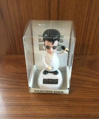 Solar Powered Dancing Elvis Presley The King - Novelty Toy - NEW